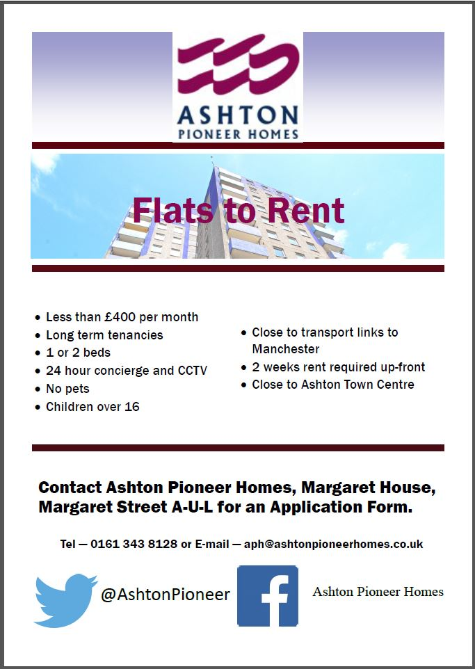 one and two bedroom flats available to rent in ashton under lyne