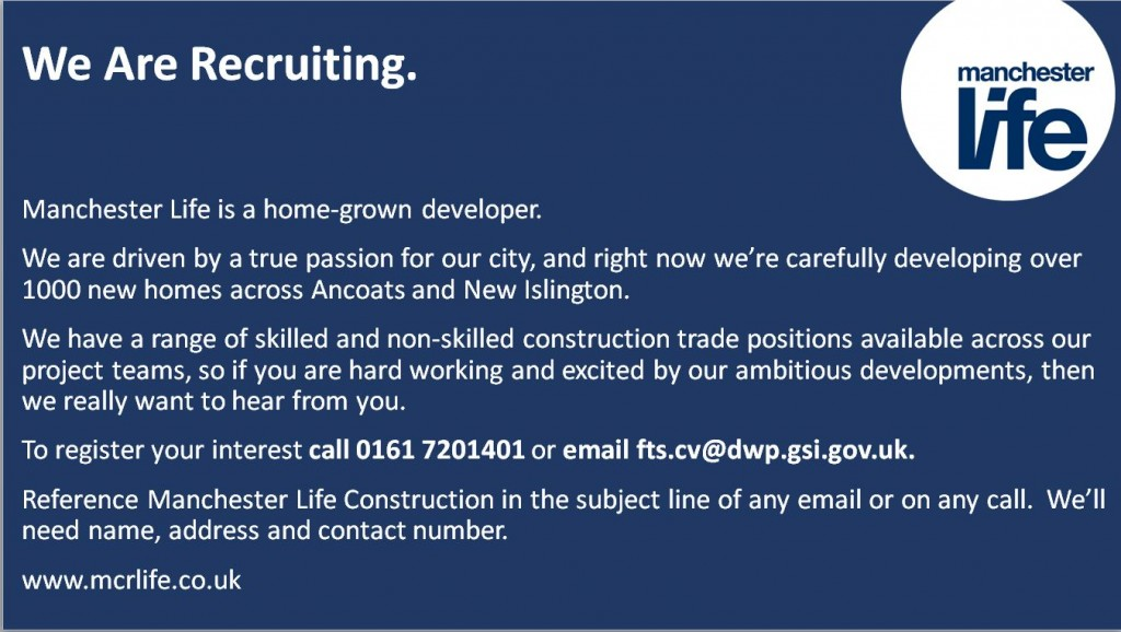 Exciting job oppurtunities available with Manchester Life - Ashton ...